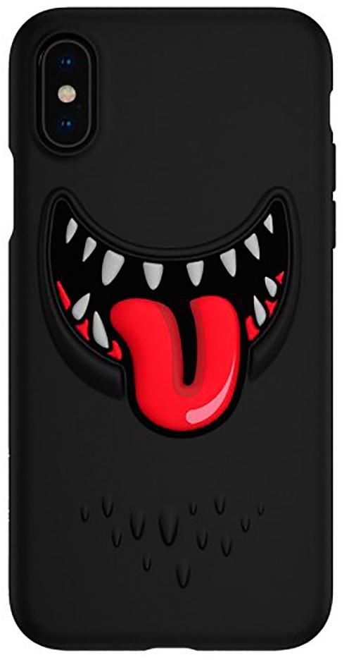 Чехол для сотового телефона SwitchEasy Monsters for 2018 iphone XS, черный цена