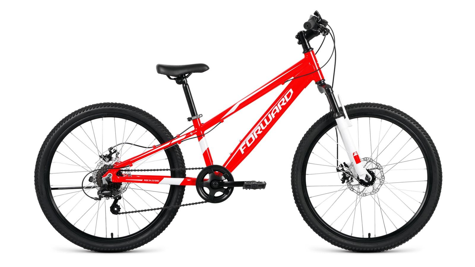Велосипед Forward Rise 24 2.0 disc, красный, белый велосипед giant escape 2 disc 2019