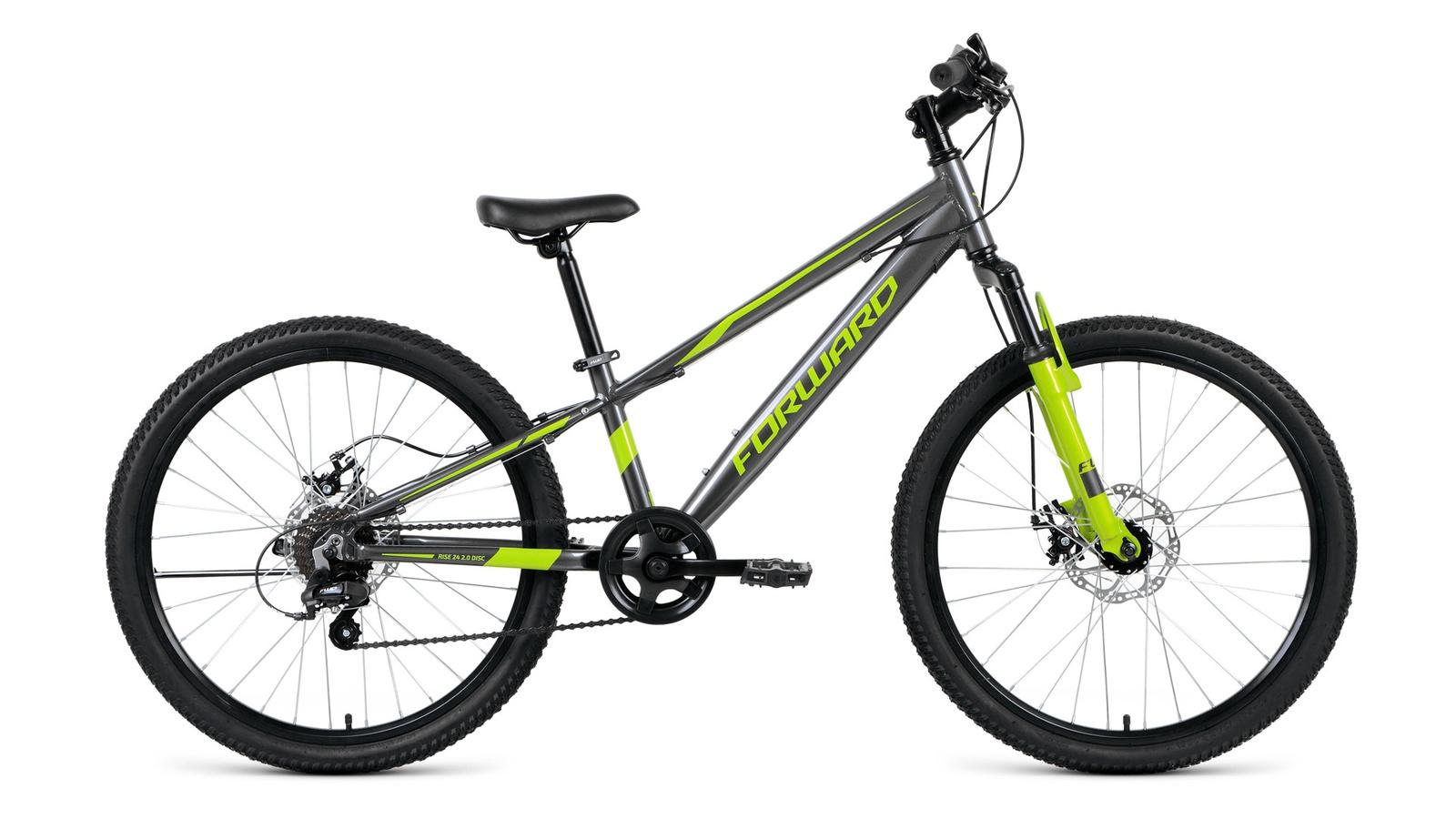 цена на Велосипед Forward Rise 24 2.0 disc, серый, зеленый