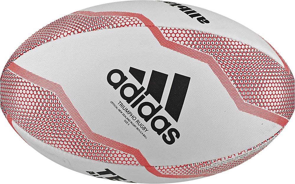 Мяч регбийный Adidas Nzru Replica Rugby Ball, DN5543, белый, черный, красный, размер 5 samsung прошивка скачать