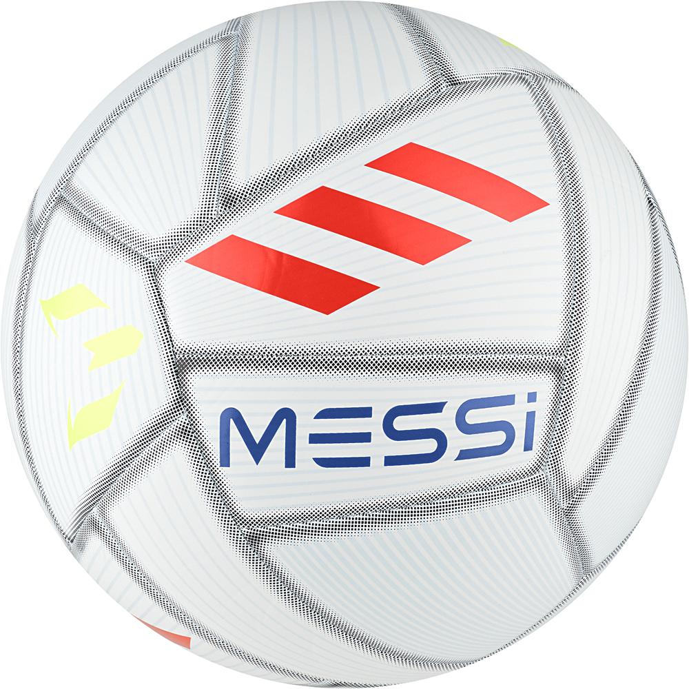 Мяч футбольный Adidas Messi Capitano, DY2467, белый, голубой, красный, размер 5 мяч футбольный adidas conext19 cpt dn8640 белый красный размер 5