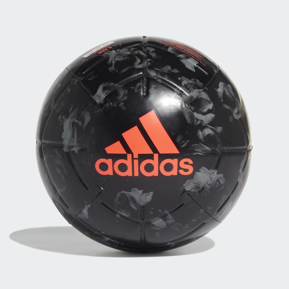 Мяч футбольный Adidas Mufc Cpt, DY2527, черный, размер 5 мяч футбольный adidas conext19 cpt dn8640 белый красный размер 5