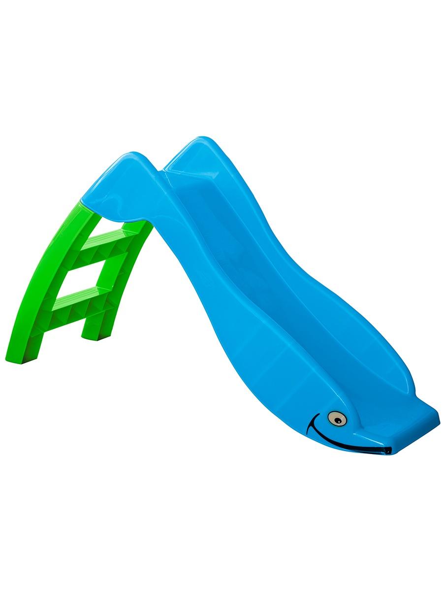 все цены на Детская горка PalPlay Ltd Рыбка голубой, зеленый онлайн
