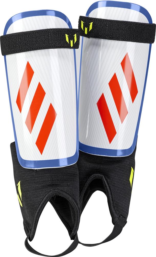 Щитки футбольные Adidas Messi, DX7745, белый, размер L