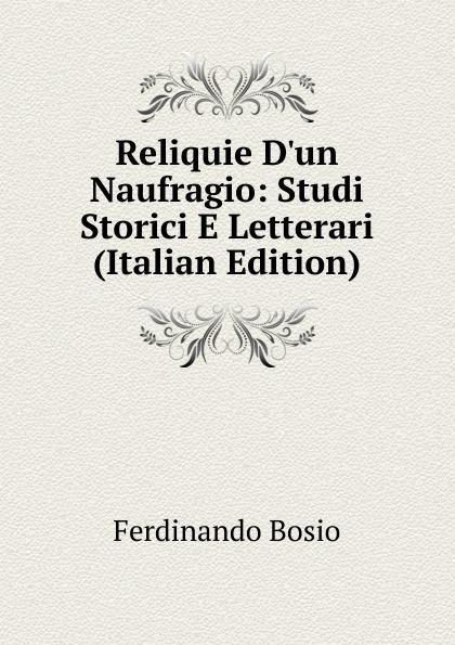 Ferdinando Bosio Reliquie D.un Naufragio: Studi Storici E Letterari (Italian Edition) tito bottagisio il limbo dantesco studi filosofici e letterari italian edition