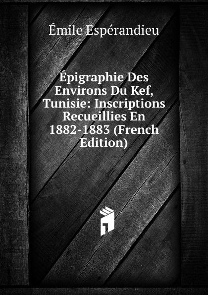 Émile Espérandieu Epigraphie Des Environs Du Kef, Tunisie: Inscriptions Recueillies En 1882-1883 (French Edition) все цены