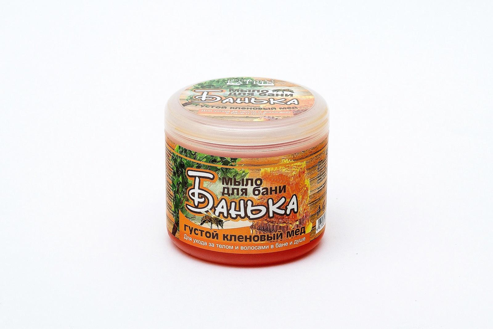 Густое мыло для бани Laboratory Katrin серия БАНЬКА Густой кленовый мёд 450 мл густое мыло для бани laboratory katrin серия банька густая смола 450 мл