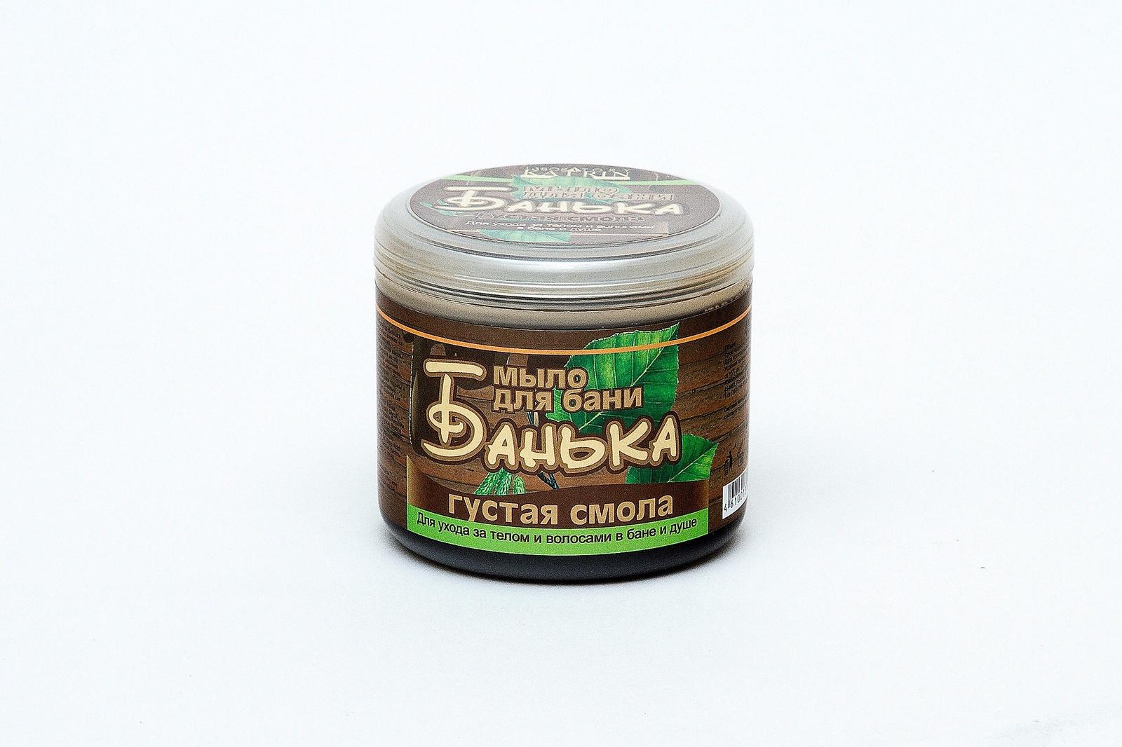 Густое мыло для бани Laboratory Katrin серия БАНЬКА Густая смола 450 мл густая себорея кожи