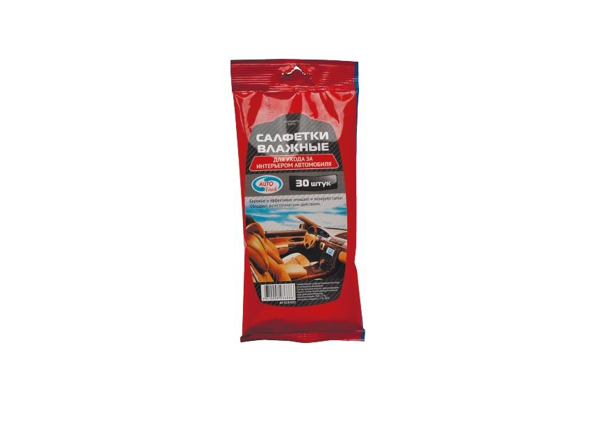 Салфетки автомобильные влажные AUTOVIRAZH AV-018302