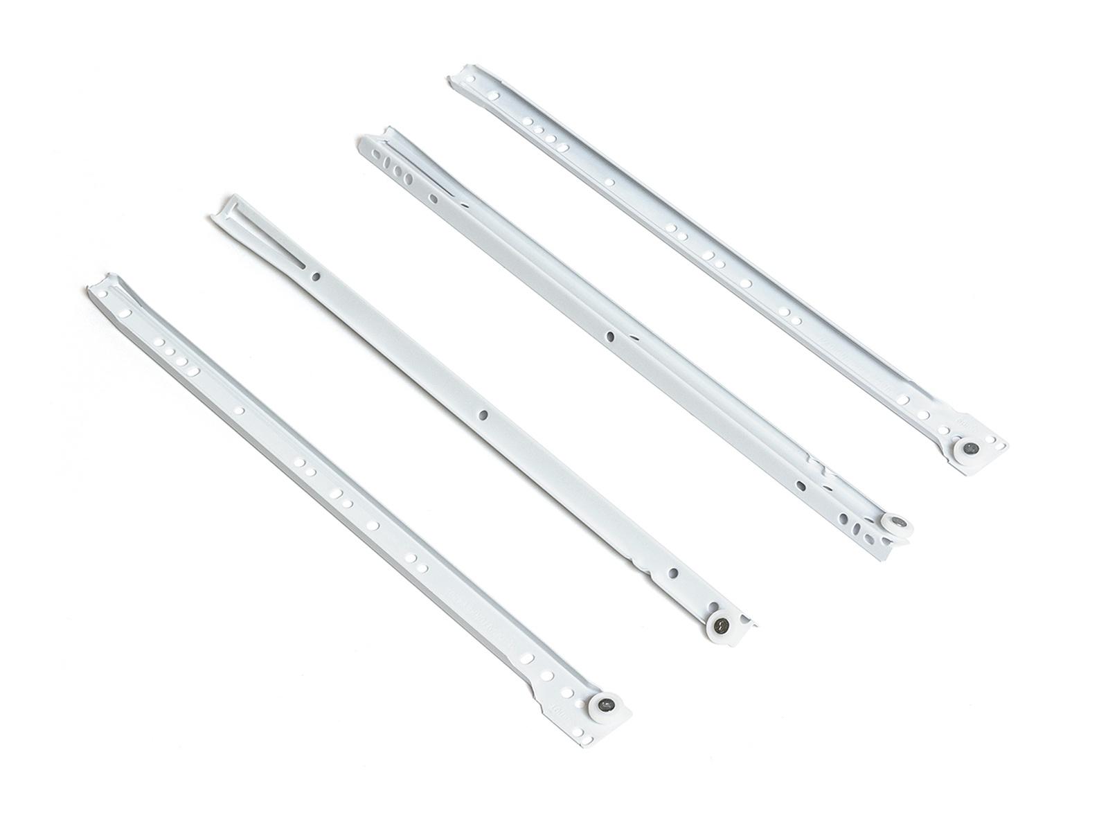 Направляющие роликовые SAMET 350 мм, белый