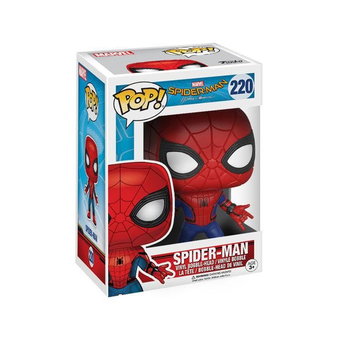 Фигурка Funko POP Spider-Man Homecoming - Spider-Man New Suit (Человек-Паук в новом костюме) funko pop bobble фигурка marvel spider man homecoming spider man homemade suit 13315