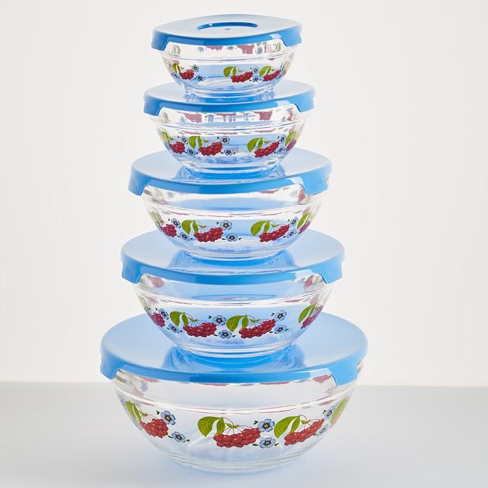 Набор аксессуаров для приготовления пищи 107790 неактивный набор емкостей для приготовления и хранения продуктов с крышками голубой муар 18 12 7 14 9 5 см цв у