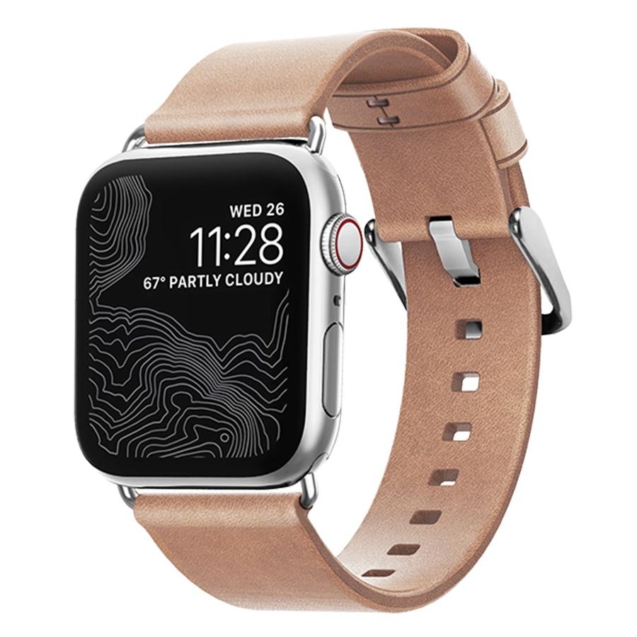 Ремешок для смарт-часов NOMAD Modern Slim для Apple Watch 38/40 мм, светло-коричневый ремешок apple modern для watch 40 мм размер l лазурная волна