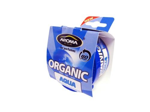 Автомобильный ароматизатор Aroma Car Organic Aqua ароматизатор автомобильный aroma car intenso perfume aqua blue подвесной ac92171