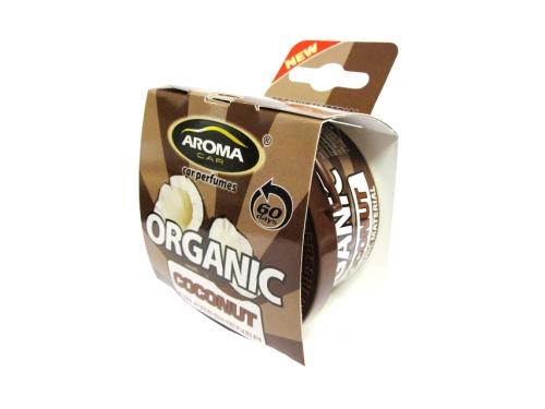 Автомобильный ароматизатор Aroma Car Organic Coconut автомобильный ароматизатор golden snail aroma football ванильный крем