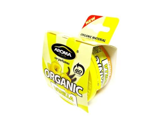 Автомобильный ароматизатор Aroma Car Organic Vanilla автомобильный ароматизатор golden snail aroma football ванильный крем