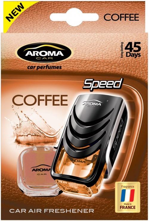 Автомобильный ароматизатор Aroma Car Speed Coffee автомобильный ароматизатор golden snail aroma football ванильный крем