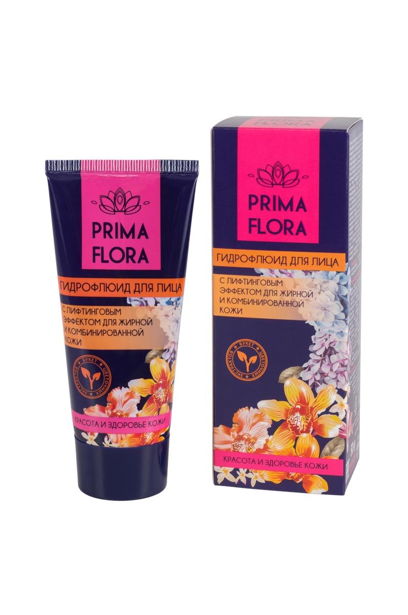 Гидрофлюид для лица PRIMA FLORA с лифтинговым эффектом для жирной и комбинированной кожи, 50 г Modum