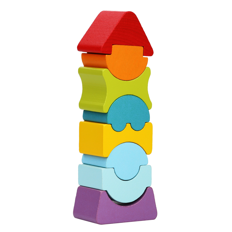 Пирамидка CUBIKA Пирамидка-балансир деревянная LD-8, 8 деталей арт. 12718С цена