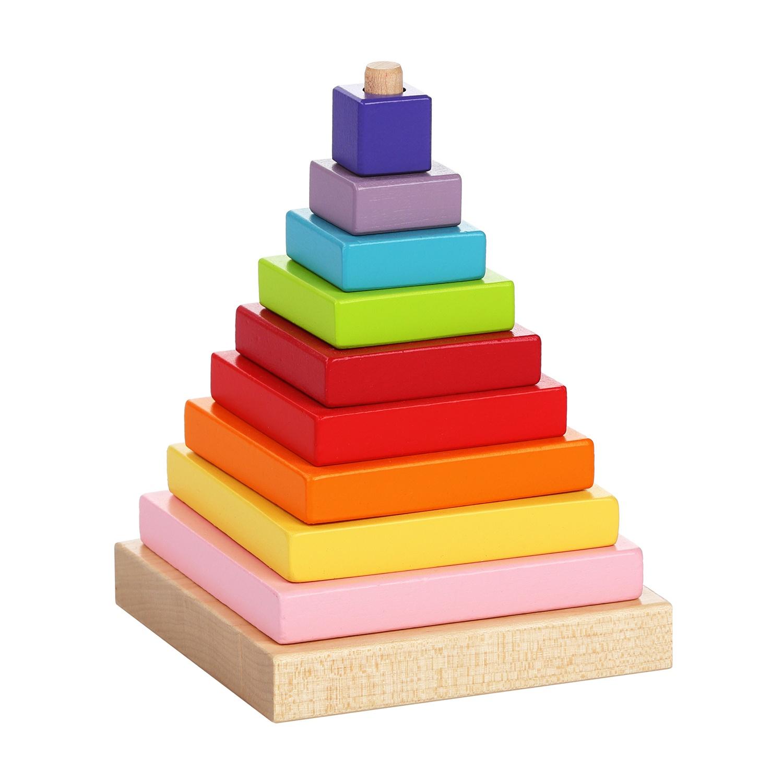 Пирамидка CUBIKA деревянная, 9 деталей арт. 13357