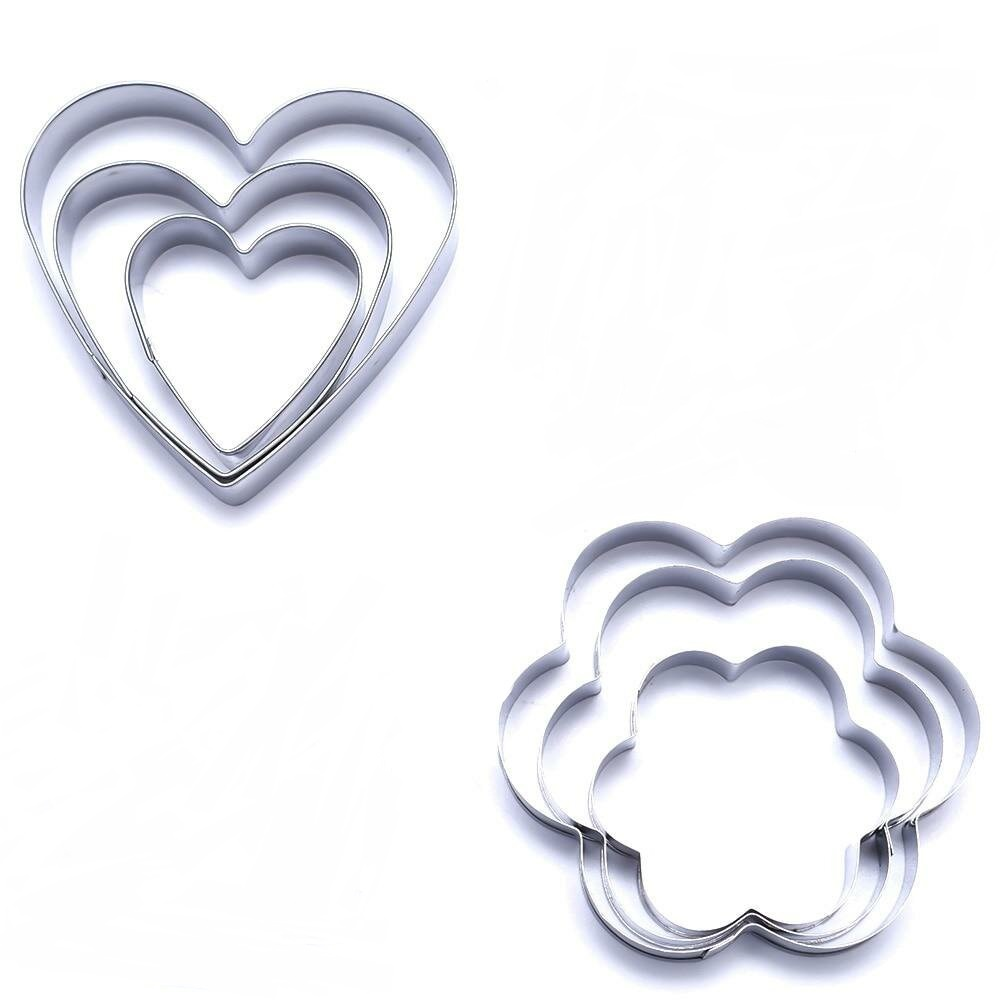 Набор для выпечки Migliores Формы для выпечки, серебристый набор форм для выпечки fidget go вкусняшка 7 х 2 5 см 6 шт