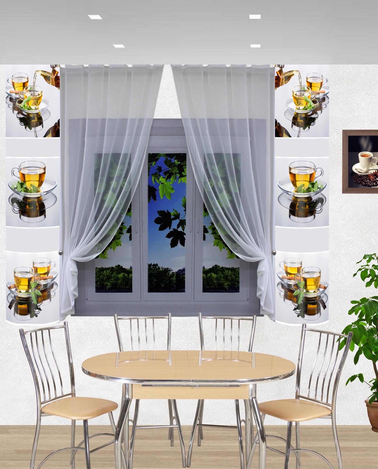 кухонные шторы фото современный стиль