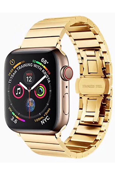 Ремешок для смарт-часов COTEetCI W25 Steel Band for Apple Watch 42/44mm, золотой ms max rm w25 27 29 wh