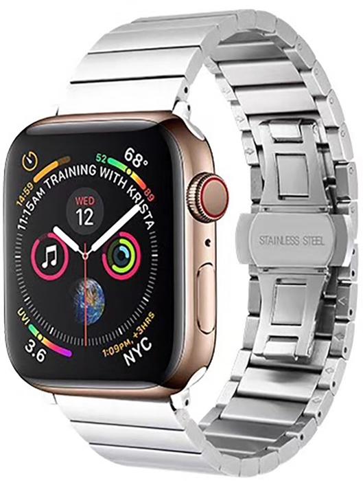 Ремешок для смарт-часов COTEetCI W25 Steel Band for Apple Watch 38/40mm, серебристый чехол для смарт часов interstep спортивный для apple watch 40mm серебристый
