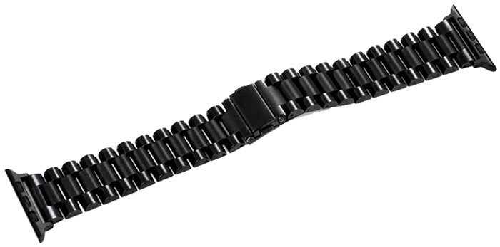 Ремешок для смарт-часов COTEetCI W26 Steel Band for Apple Watch 42/44mm, черный аксессуар ремешок gurdini sport silicone для apple watch 42mm 44mm rose red 906490