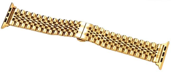Ремешок для смарт-часов COTEetCI W27 Steel Band for Apple Watch 42/44mm, золотой аксессуар ремешок gurdini sport silicone для apple watch 42mm 44mm rose red 906490