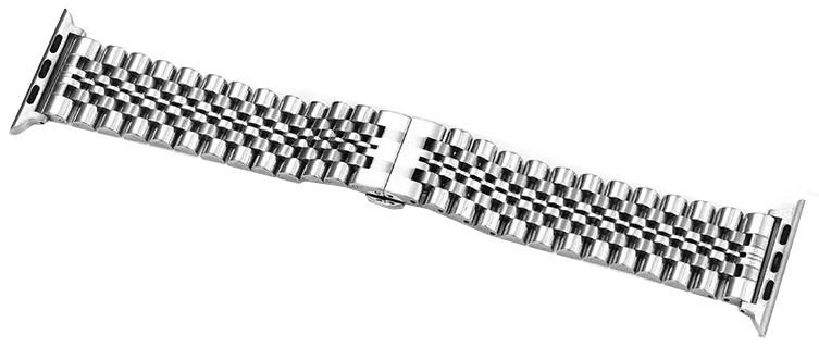 Ремешок для смарт-часов COTEetCI W27 Steel Band for Apple Watch 42/44mm, серебристый аксессуар ремешок gurdini sport silicone для apple watch 42mm 44mm rose red 906490