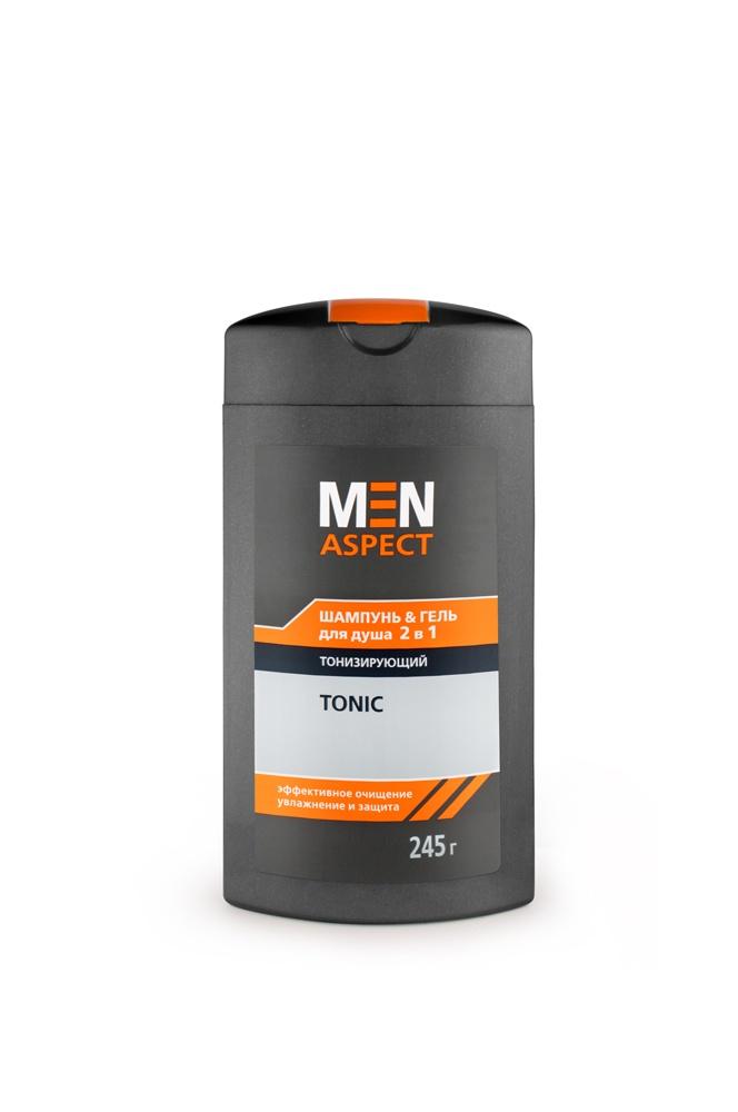 Шампунь & Гель для душа MEN ASPECT 2 в 1 Тонизирующий, 245 г густая себорея кожи