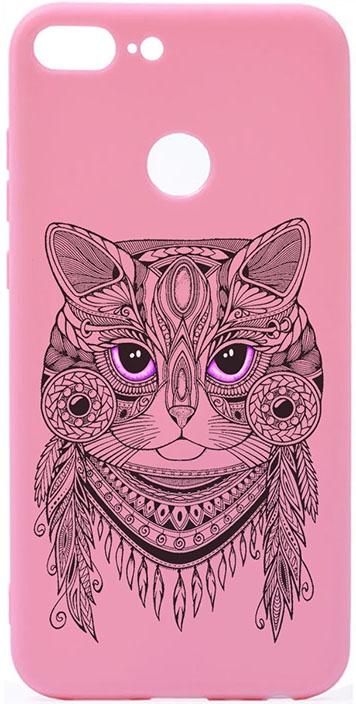 Чехол для сотового телефона GOSSO CASES для Honor 9 Lite Soft Touch Art Grand Cat Pink, розовый