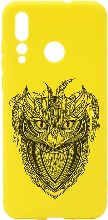 Чехол для сотового телефона GOSSO CASES для Huawei Nova 4 Soft Touch Art Grand Owl Yellow, желтый