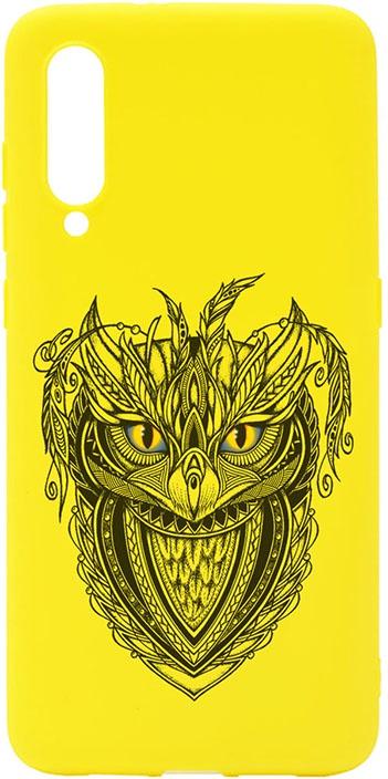 Чехол для сотового телефона GOSSO CASES для Xiaomi Mi 9 Soft Touch Art Grand Owl Yellow, желтый