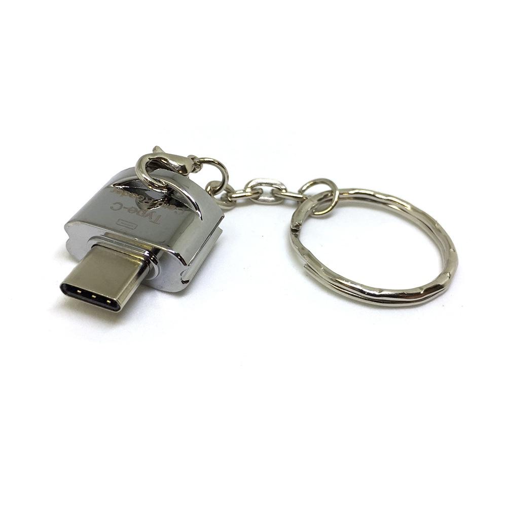 Устройство чтения карт памяти Espada ESP-CSD, USB type-C to MicroSD/TF, серебристый leef access c microsd reader usb c