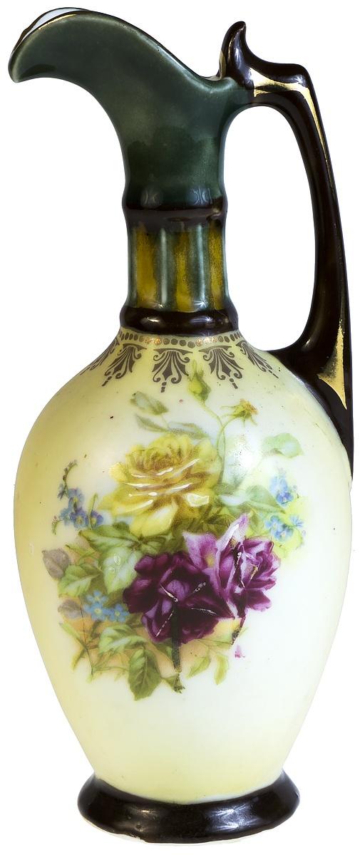 Кувшин миниатюрный Розы. Фарфор деколь с подрисовкой золочение. Австрия? конец 19 века, Фарфор ваза soto для одного цветка 10х25 5 см