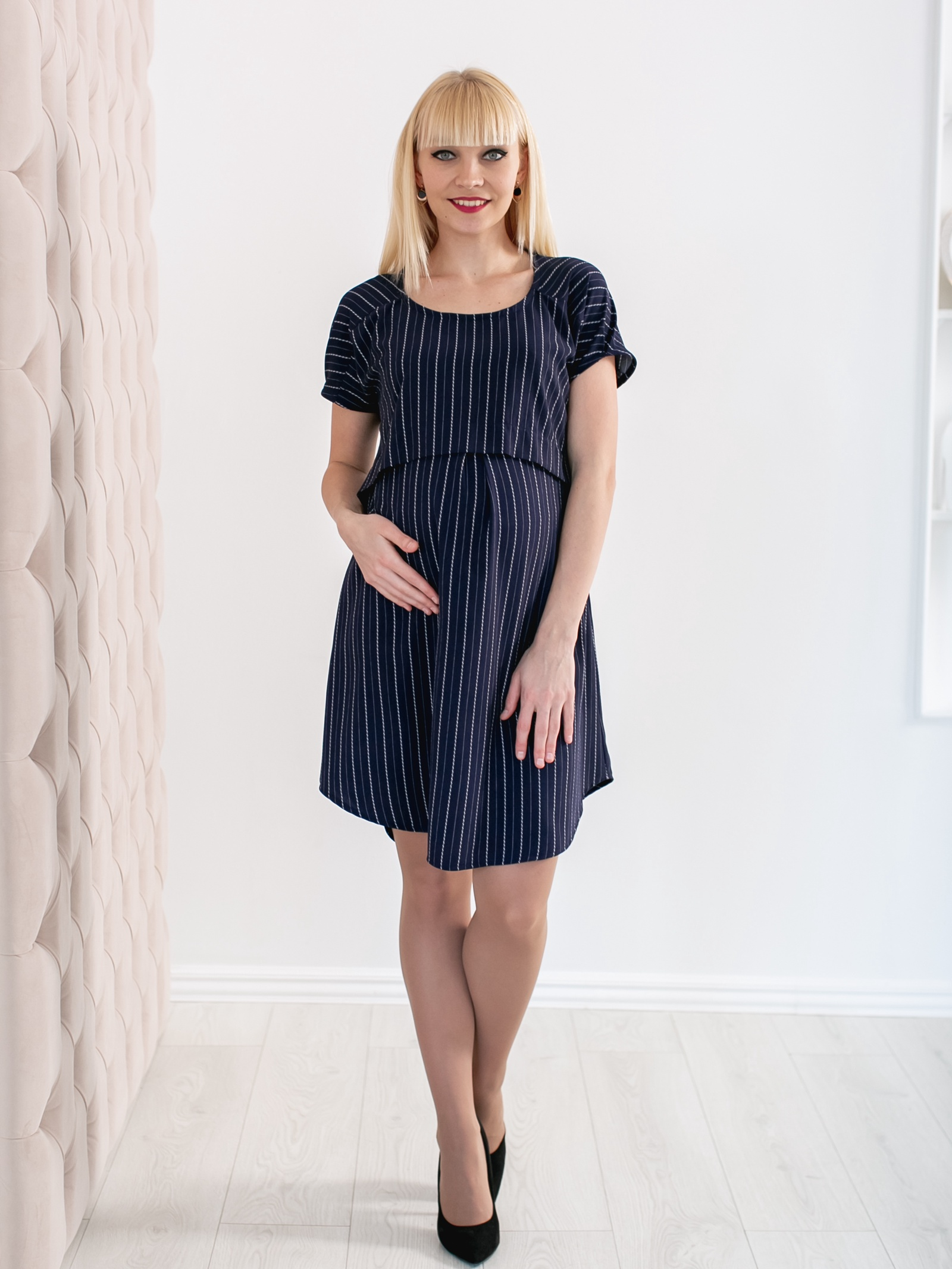 Платье бюстгальтер medela для будущих и кормящих мам eva черный s