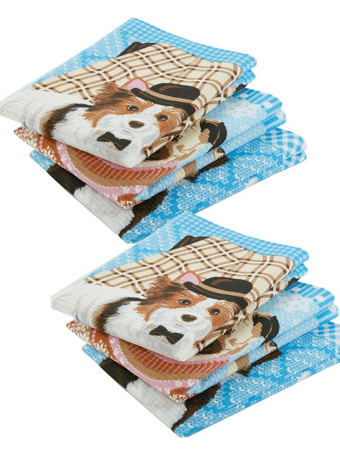 Комплект из кухонных полотенец Любимые питомцы 6 шт. цена