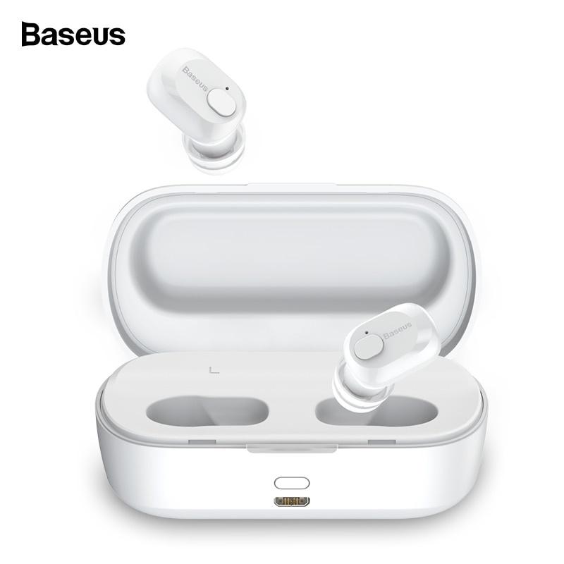 Беспроводные наушники Baseus Мини с микрофоном, белый