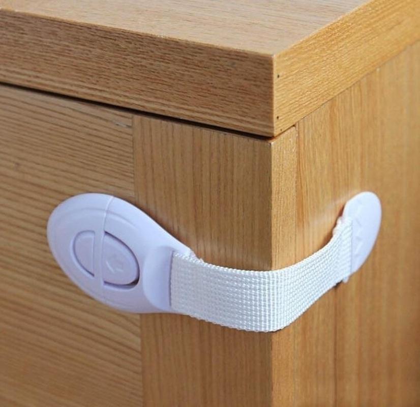 Блокиратор дверей/ящиков TopSeller Блокиратор для дверей шкафа, белый