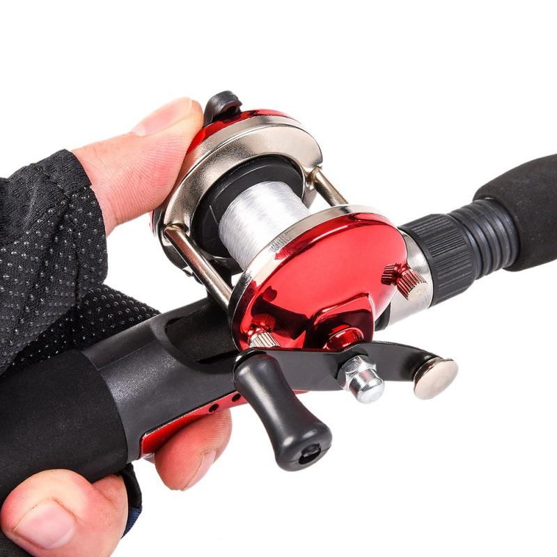 Катушка AUTMOR на удочку для рыбалки, красный