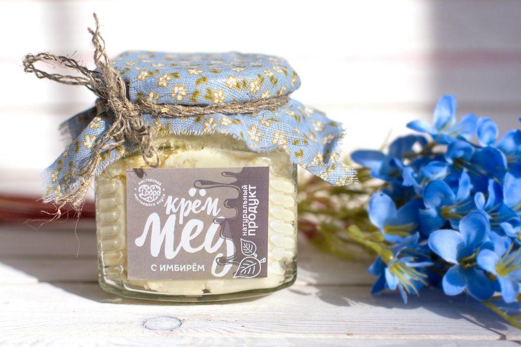 Мед-суфле ТМ Добро Горный крем-мёд с имбирём Стеклянная банка, 270 г. мед ice honey с тыквой и айвой 200г стеклянная банка