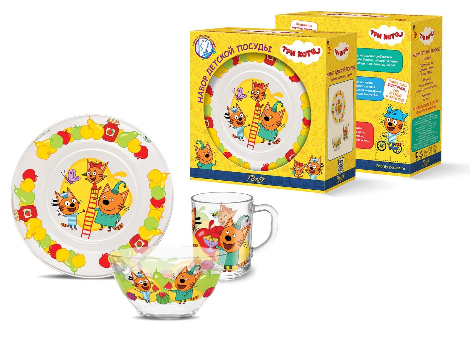 Набор детской посуды PrioritY / Три Кота Фрукты