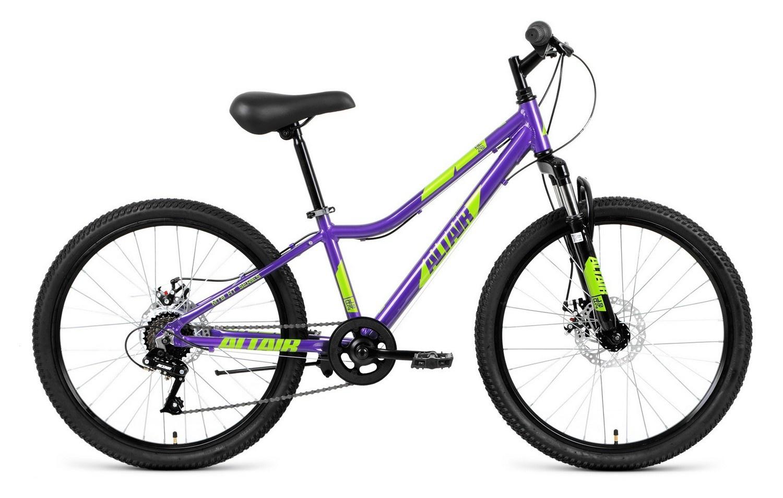 Велосипед Forward AL 24 D 2019, фиолетовый, зеленый велосипед forward twister 24 1 0 2019