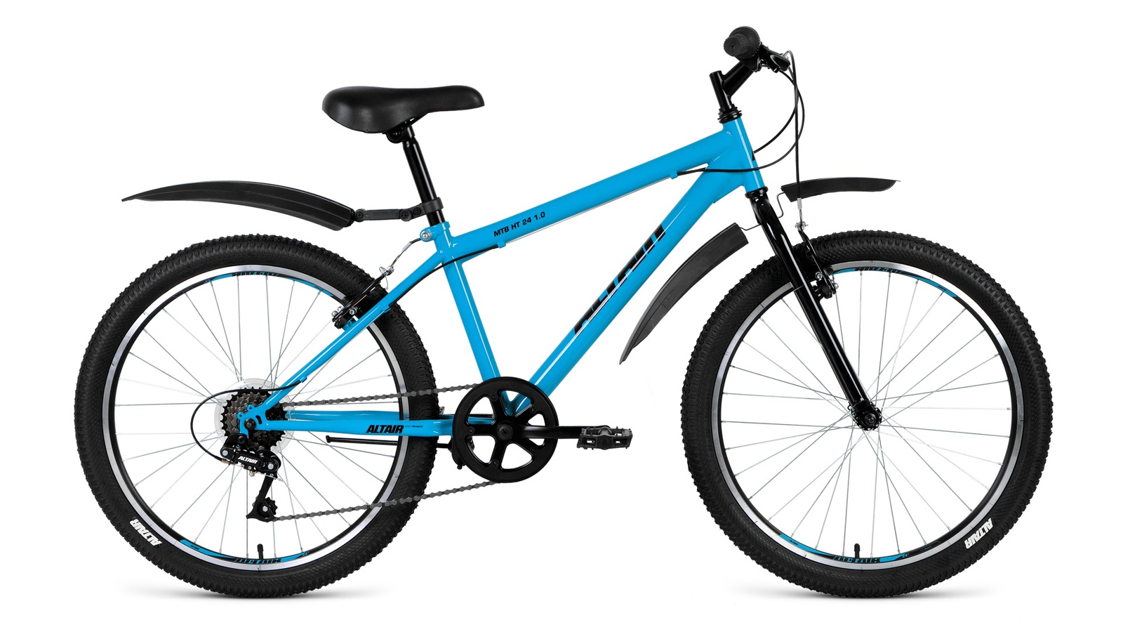 Велосипед Altair MTB HT 24 1.0 2019, бирюзовый altair mtb ht 26 1 0 lady 15 2017 blue