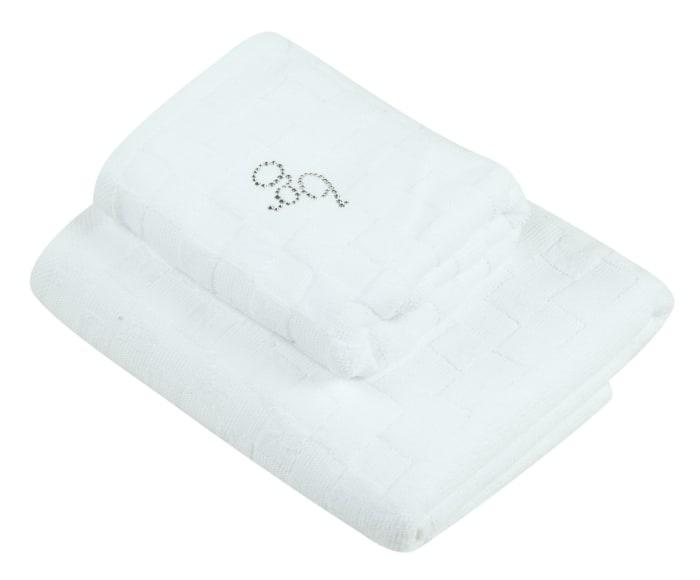 Набор банных полотенец Blumarine Dustin white, белый набор банных полотенец blumarine dustin white белый