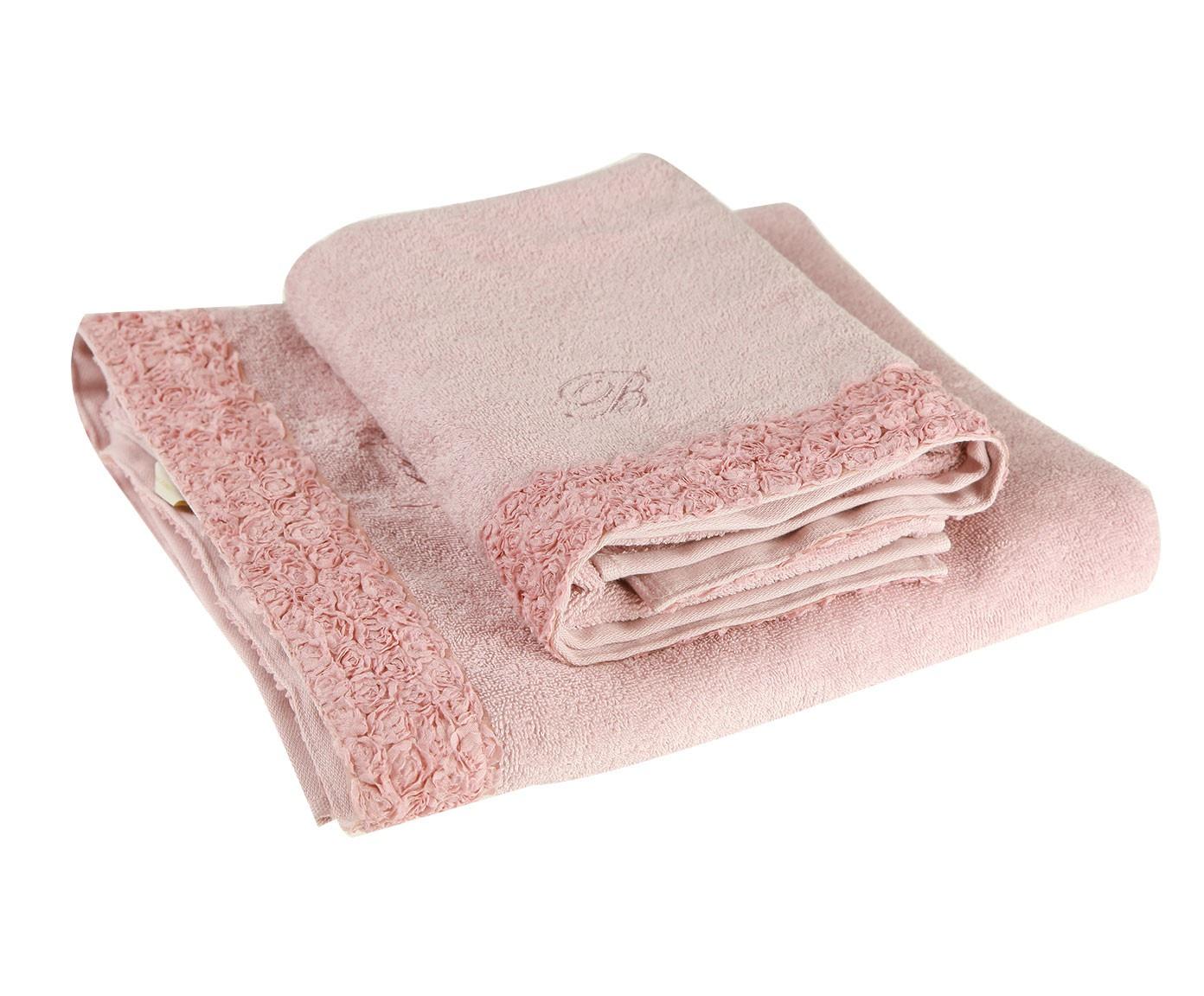 Набор банных полотенец Blumarine Ely Orchidea, розовый набор банных полотенец blumarine dustin white белый