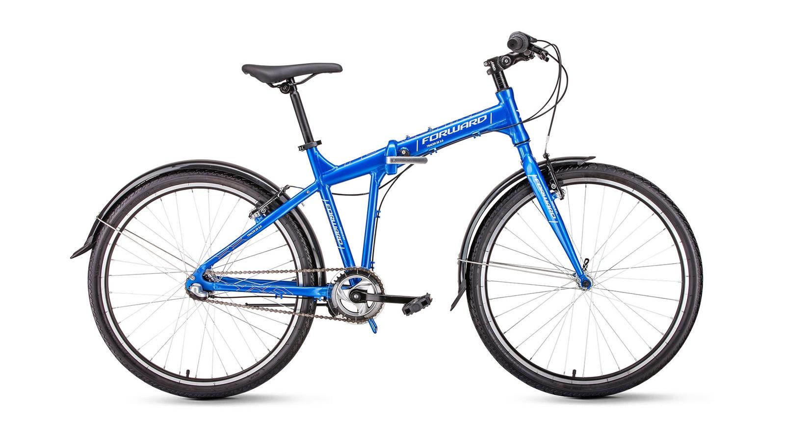 Велосипед Forward Tracer 26 3.0, синий велосипед forward tracer 3 0 рама 17 белый