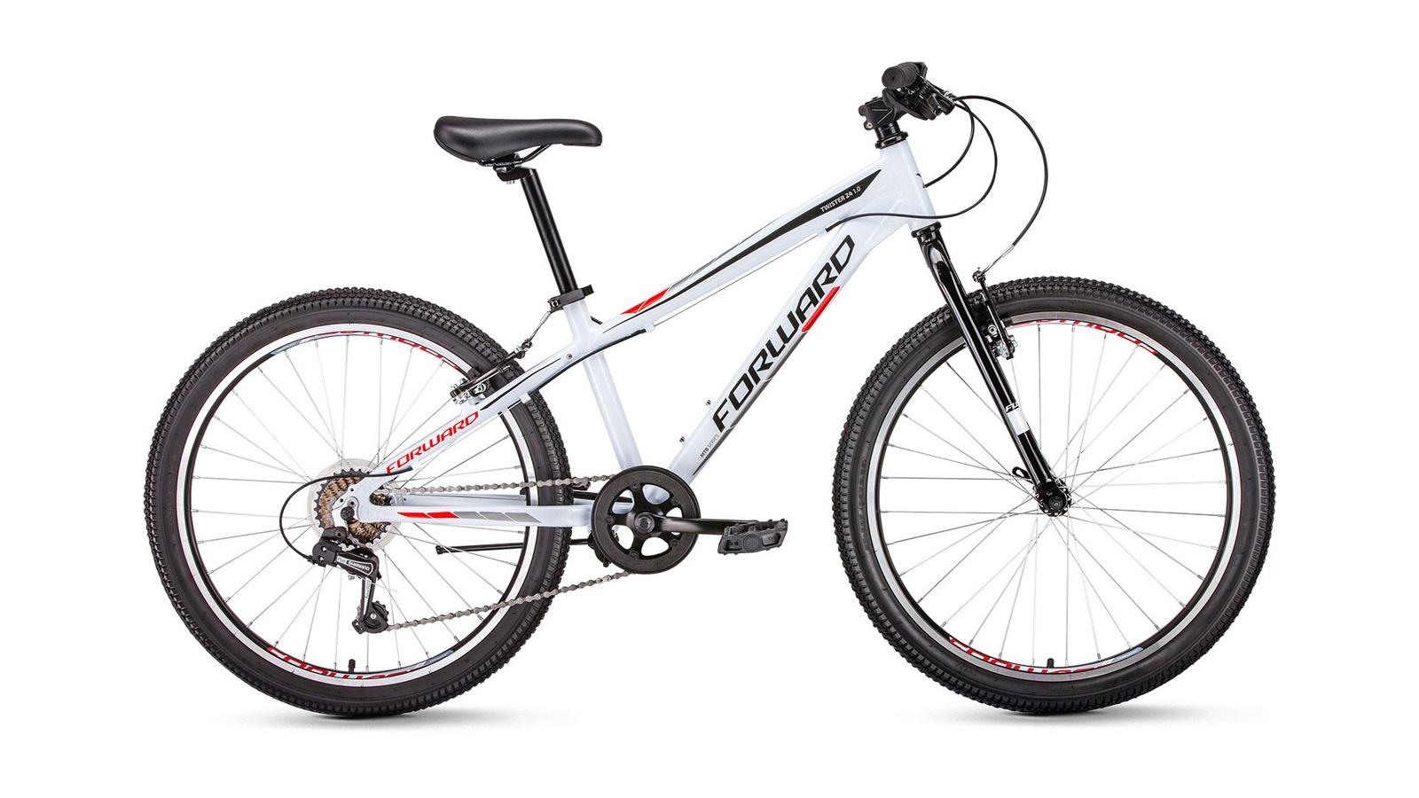 Велосипед Forward Twister 24 1.0, белый велосипед forward twister 24 1 0 2019